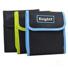 KnightX 3 4 6 Bag 49mm  82mm Camera Filter Lens UV CPL ND STAR COLOR Case Pouch Holder Wallet choose for Nikon D7000 D5200 D5100