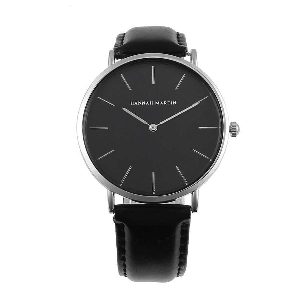 Fashion Mens Womens Quartz Watch Hannah Martin CH02 Unisex Wrist Watch Casual Sport Watch Simple Design Wristwatch
