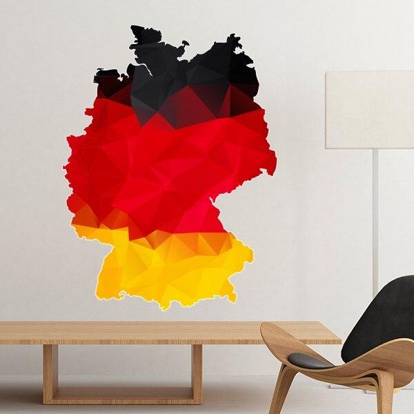 Dekoration Deutschland.Us 4 25 15 Off Deutschland Nationalen Flagge Karte Land Graffiti Illustration Muster Abnehmbare Wand Aufkleber Decals Wandbild Tapete Hochzeit