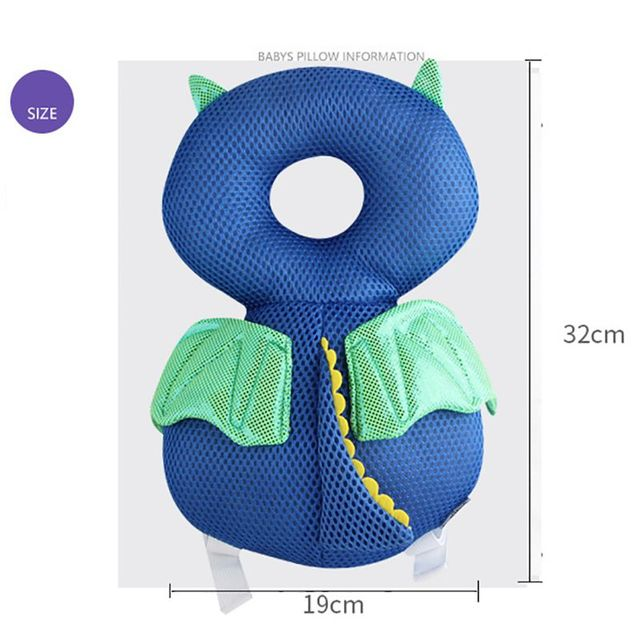 Toddler Baby Head Back Protector Safety Pad Pillow Infant Toddler Harness Headgear Bear Rabbit Baby Head Protection Pad