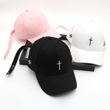 f276d97dfc7 Hami Otwo Embroidery Christian Cross Cotton Cap Baseball Cap casual  Snapback Hat Hip Hop Jesus God