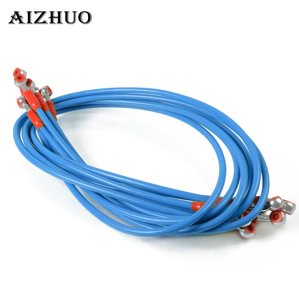 450 1200mm Motorcycle Dirt Bike Steel Hydraulic Reinforce Brake Line Clutch For SUZUKI RM85 125 250 RMZ RMX450Z RMX250S DRZ400S in Levers Ropes Cables from Automobiles Motorcycles