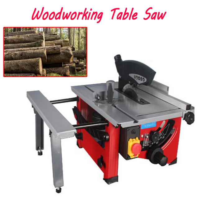 4800r / min Sliding Woodworking Table Saw 210 mm Wooden DIY Electric Saw, Circular Angle Adjusting Skew recogniton Saw