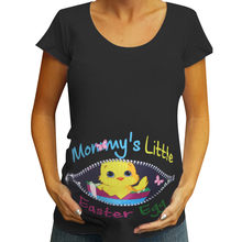 Women Maternity Short Sleeve Easter Letter Print Tops T-shirt Pregnancy Clothes(China)