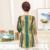 Plus size 5xl Listrado Multicolor primavera loose women blusa ocasional 2017 macio senhora Três Quarte camisas do pulôver feminino top de manga comprida