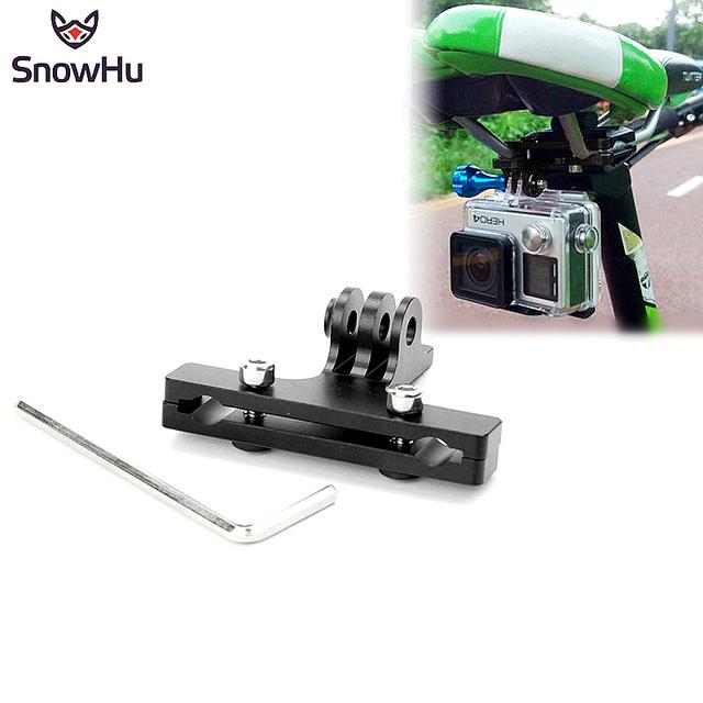 Assento de sela da bicicleta de alumínio rail mount grampo para gopro hero 4 3 + 2 1 sj4000 câmera ação gp284 xiaomi yi