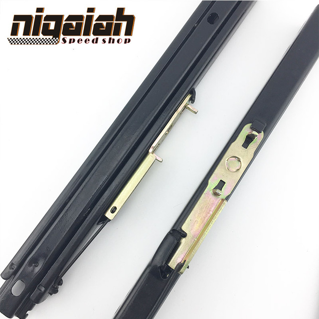 Universal Auto Replace parts Iron stainless high strength seat Adjustable Dual Rails Sliders