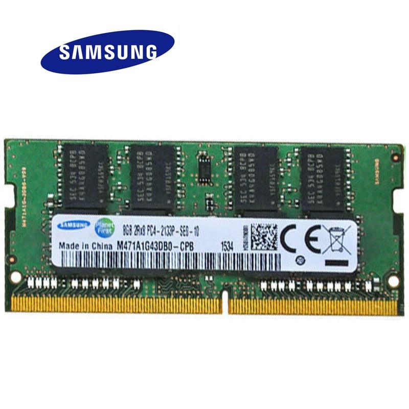 SAMSUNG DDR4 4G 8G Laptop Memory RAM 2133 Memoria DRAM Stick for Notebook 100% Original 4 GB 8GB
