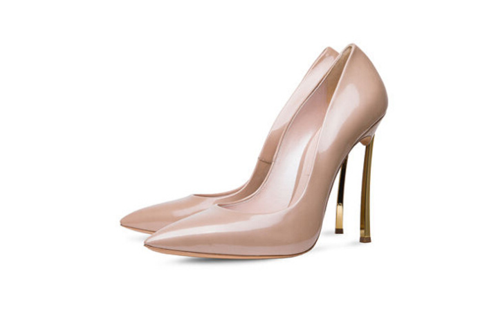 70920a72f8 Brand designer women super high heels 2019 Fashion pointed toe nude patent  leather pumps top quality thin heel dress shoes 42