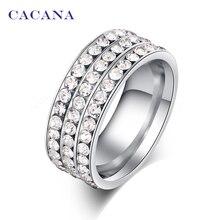 Cacana № изделий ювелирных кольца нержавеющей стали женщин для