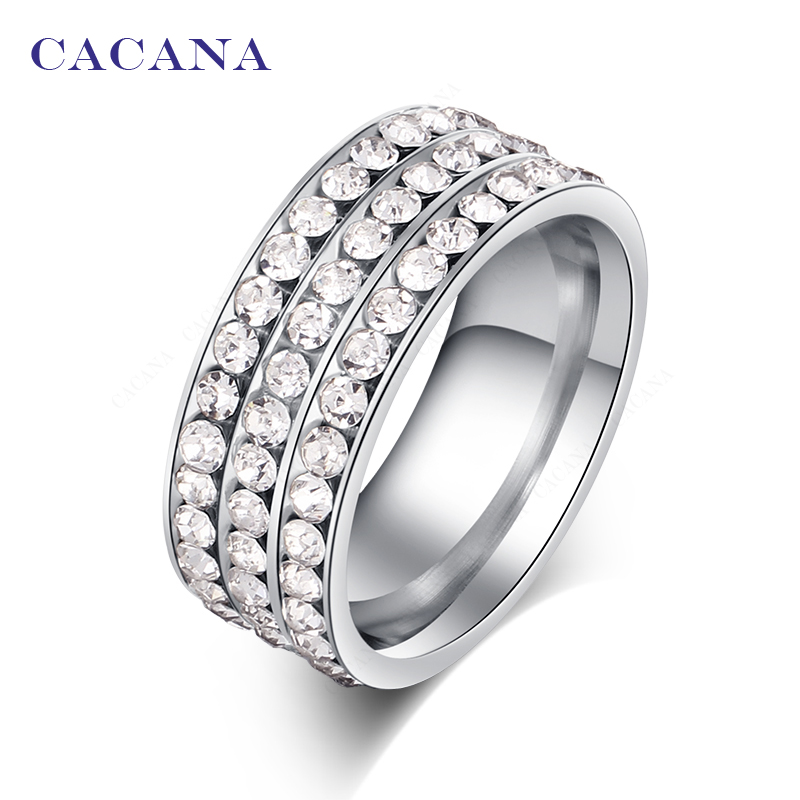 Aliexpress com Buy CACANA Stainless Steel Rings For