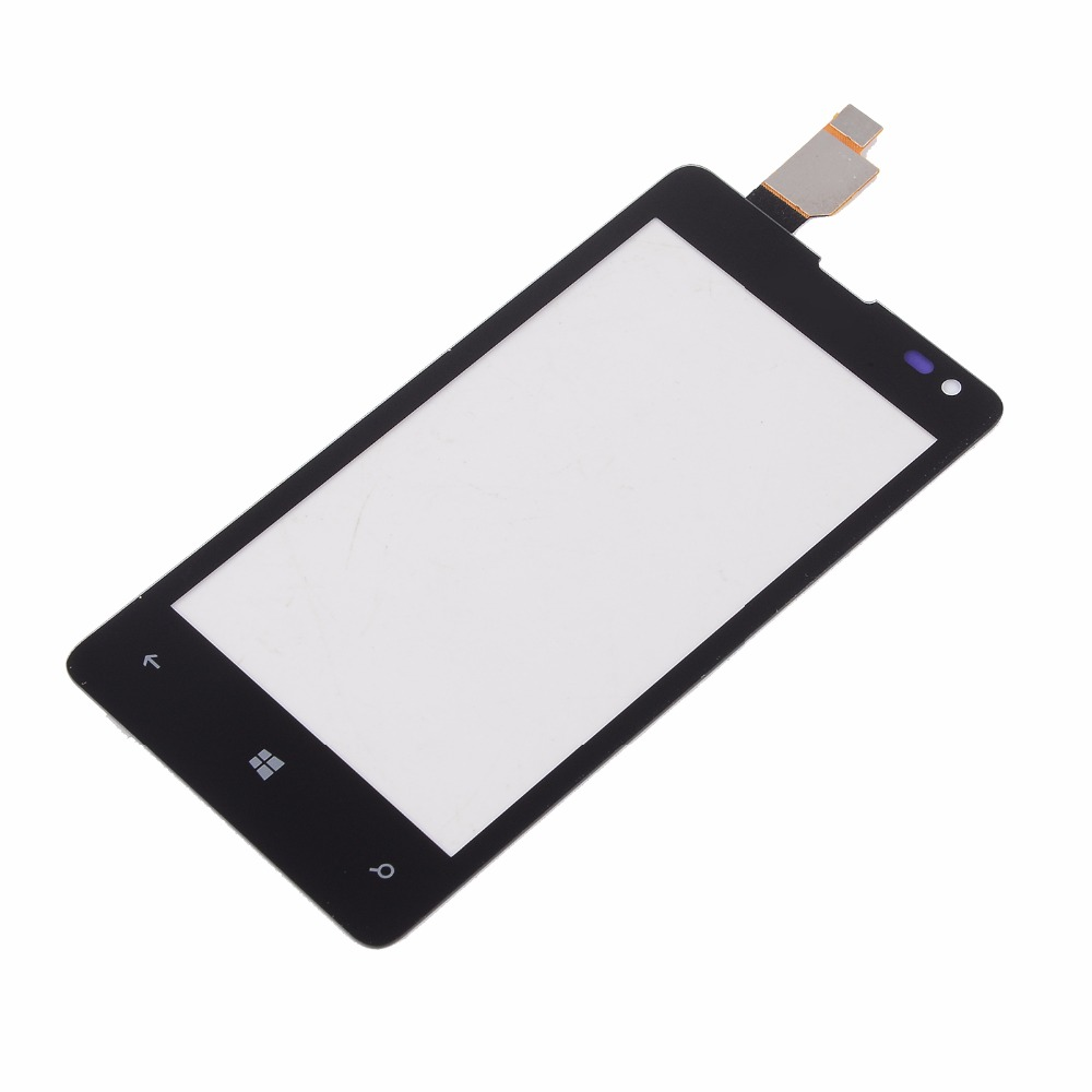 For Nokia Microsoft Lumia 435 N435 532 N532 Housing Touch Screen Digitizer Panel Glass