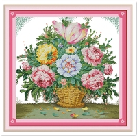 Gorgeous Blossom 2 Chinese Counted Cross Stitch Pattern 11CT 14CT Printed On Canvas Cross Stitch Kit