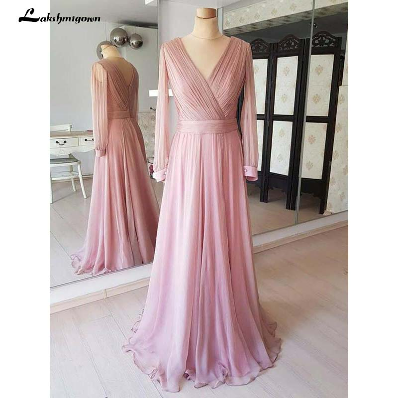 Dusty Rose Cheap Modest Mother Of The Bride Dresses Long