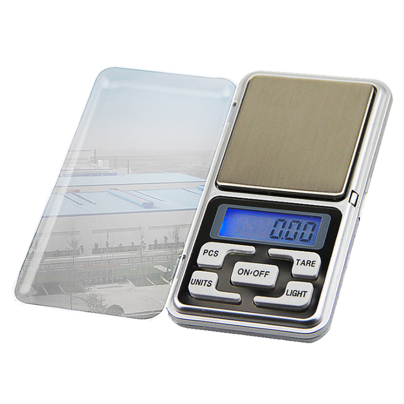 Urijk Mini Digital Scale 100/200/300/500g 0.01/0.1g Accuracy Backlight Electric Pocket Kitchen Jewelry Gram Weight LCD Display