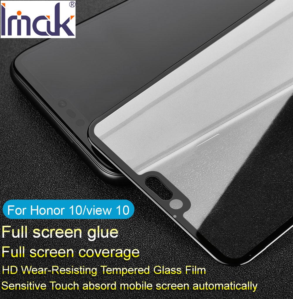 Imak Pro + Plein Écran Couverture De Colle En Verre Trempé Pour Huawei Honor 10 vue 10 Lite 2.5D Courbe oleophobic view10