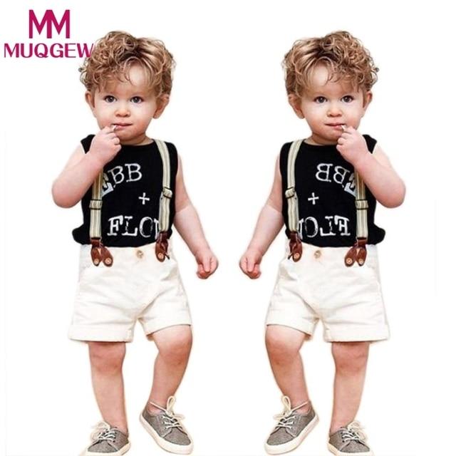 0d56f0df1 Summer Children Clothing Infant Baby Boy Gentleman Shirt Tops+ ...