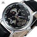 New SEWOR Brand Transparent Skeleton Mechanical Hand Wind Watches Men Classic Hollow Skeleton Relogio Male Fashion Casual Watch