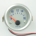 52mm Smoke Pointer Car Motor Auto Volt gauge Voltage  meter  Car Styling Car Instruments Free shipping