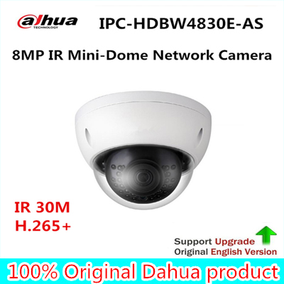 Dahua 4K 8MP IR Mini-Dome Network IP Camera IP67 IK10 with POE Without Logo IPC-HDBW4830E-AS Eco-savvy 3.0 Series free shipping dahua cctv camera 4k 8mp wdr ir mini bullet network camera ip67 with poe without logo ipc hfw4831e se