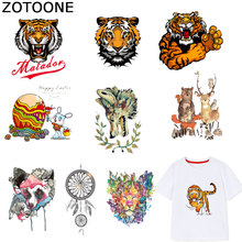 ZOTOONE Animal Patches Dreamcatcher Stickers Iron on Transfers for Clothes T-shirt Heat Transfer Kids Accessory Appliques F1