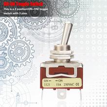 цена на micro switch 5Pcs/Lot ON-ON SPDT Toggle Switch 12mm 3-Pin 2-Position 15A 250V Toggle Switch