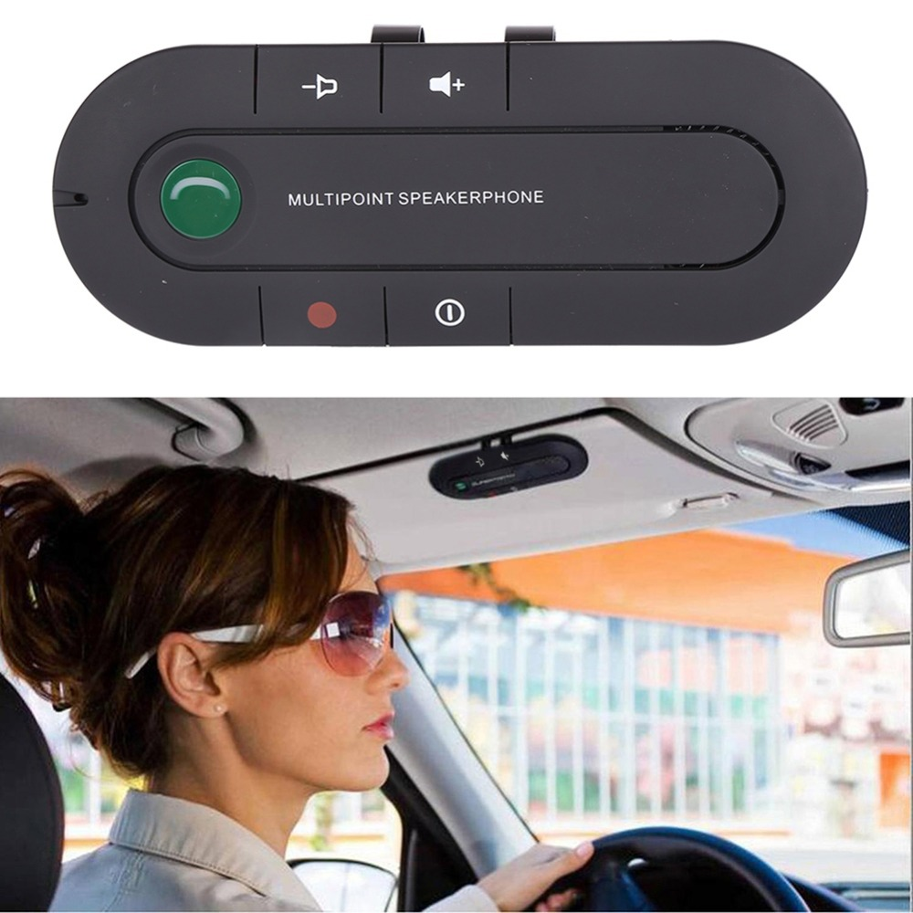 Bluetooth Speakerphone 4.1+EDR Wireless Audio Music Receiver Hands Free Bluetooth Car Kit Sun Visor Portable Bluetooth Multipoin