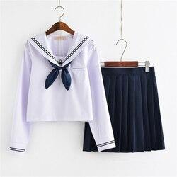 Школьная юбка для девочек, японский стиль, JK форма, японская мода, колледж, костюм моряка, плиссированный свитер в стиле аниме, одежда для дев...