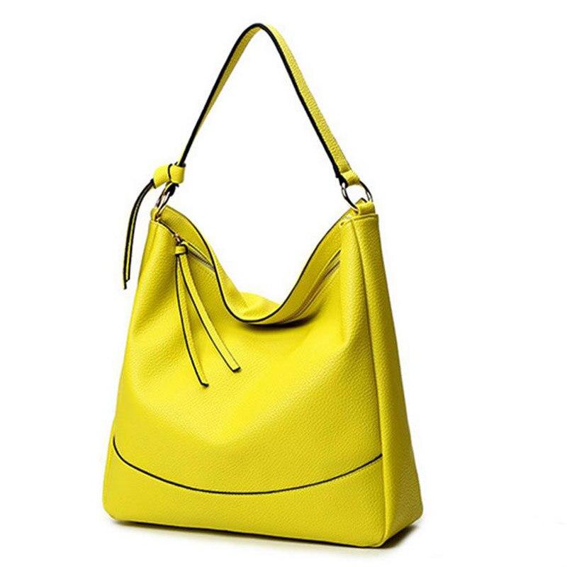 Women Soft Leather Shoulder Bags Simple Design Black Handbags For Women Hobo Bag