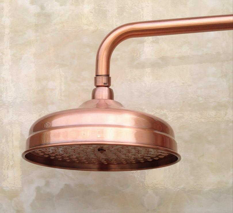 rainfall shower head antique red copper round shape shower heads bathroom rain shower head j041 Round Vintage Retro Bathroom Rain Shower Head 8 inch Antique Red Copper Shower Sprayer Nsh054