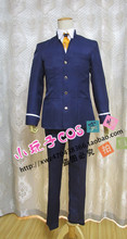 Hot Anime Angel Beats! cosplay Naoi Ayato cos Daily complete school uniforms full set 4in1 coat+shirt+pants+tie