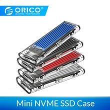 ORICO M2 SSD Case M.2 USB NVME SSD Enclosure Transparent Hard Drive Disk for M2 NVME SSD Enclosure Type C 3.1 M Key M.2 SSD Case 50 pieces lot 42mm ngff m2 2 lane ssd to usb 3 1 type c usb c external pcba adapter card flash disk type black
