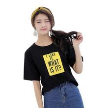 Women T Shirt 2017 Summer Style T-shirt I Like It Prints t shirt Friendship Harajuku O-neck Short Sleeves Funny black Tops Tee