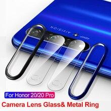 Закаленное стекло для huawei Honor 20 Pro 20i Nova 5 Pro 5i 5T 4 стекло для объектива камеры защита экрана защитное кольцо бампер чехол