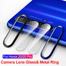 Tempered Glass On For Huawei Honor 20 Pro 20i Nova 5 Pro 5i 4 Glass Camera Lens Screen Protector & Protective Ring Bumper Case(China)