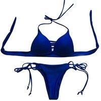 Hot Selling Europe And The United States Style Bikini Sexy Tie Split Swimsuit Bikini Sun Beach