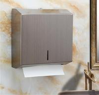 Fashion stainless steel bathroom paper box drill or non drill choosing brushed gold bathroom accessories