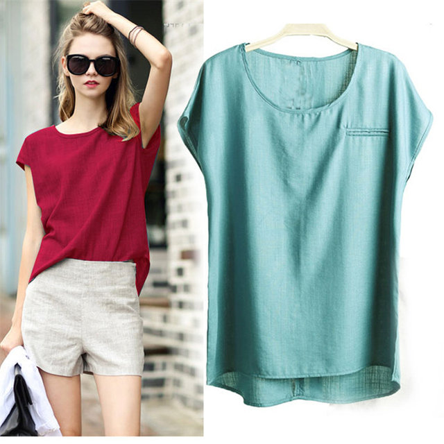f817388e94 Plus size fat MM summer cotton short-sleeve t-shirt 200 pounds women solid