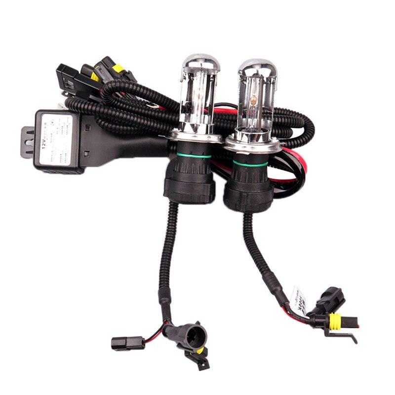 2Pcs 55W 12v H4 H13 9004 9007 Xenon Hid Lights Double Beam With Wire Set 6000K 8000K 10000K Xenon Kit Headlamp Bulbs H4 9007