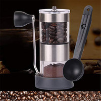 Mini Manual Hand Crank Coffee Bean Spice Hand Grinder Mill with Spoon Kitchen Tool DC112