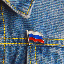 Russia Flag Lapel Pin Badges Brooches for Men Women Unisex Backpack Bag Hat Accessories Russia Jewelry(China)