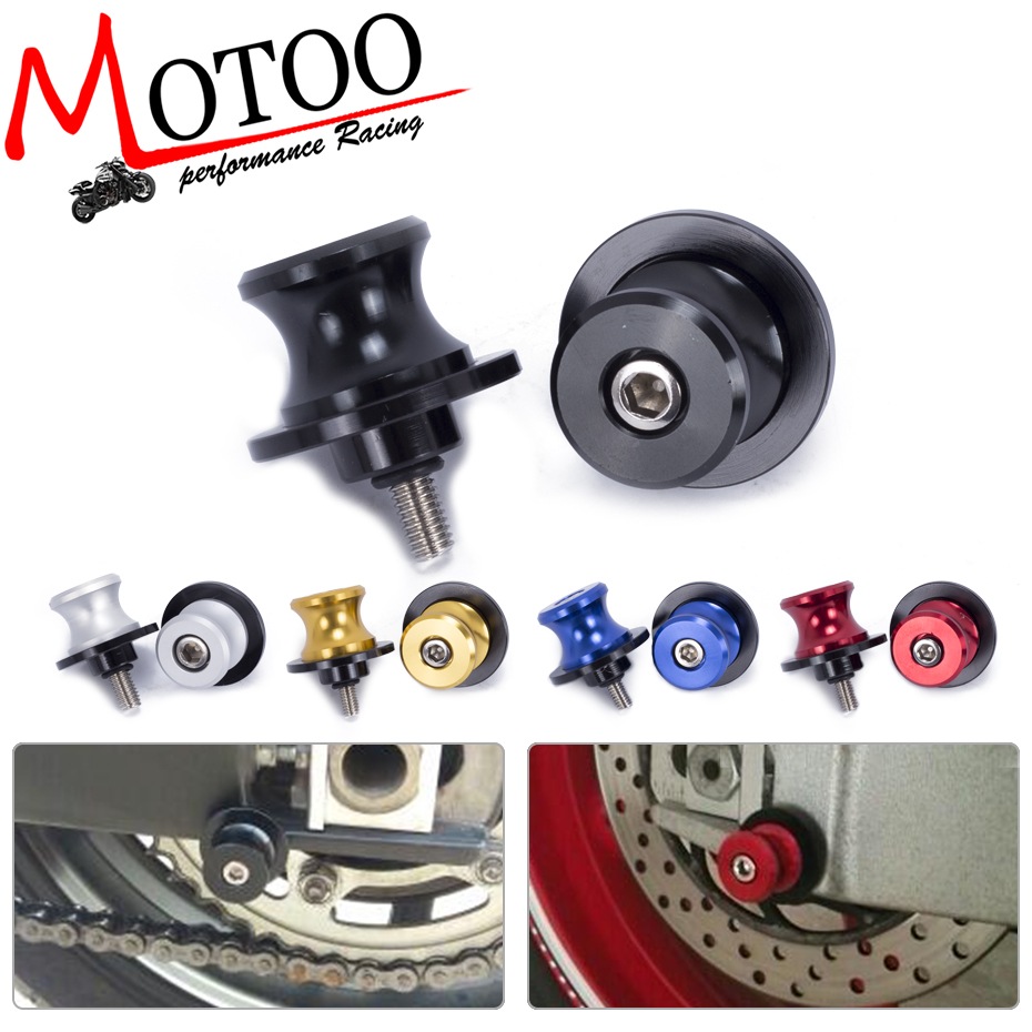 Motoo - 6mm Motorcycle CNC Swingarm Slider Spools stand screws For Yamaha YZF R1 R3 R6 6mm motorcycle accessories swingarm spools slider stand bobbin bolts for yamaha t max 530 500 yzf r1 yzf r6 xjr 1300 xj6 mt 09