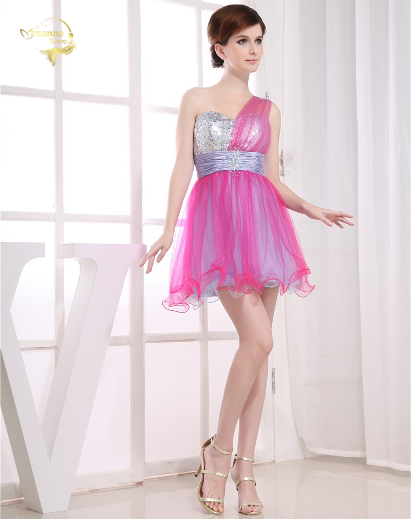 High school university mini cocktail dress party prom dresses one high school university mini cocktail dress party prom dresses one shoulder colourful short homecoming dresses 2018 hck29013 in homecoming dresses from ombrellifo Choice Image