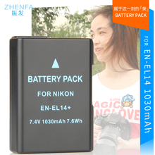 EN-EL14 EN EL14a EL14 1030mAh Battery Camera MH-24 bateria For Nikon P7000 P7100 D3100 D3200 D5100 D3300 D5200 D5300 P7200 P7800
