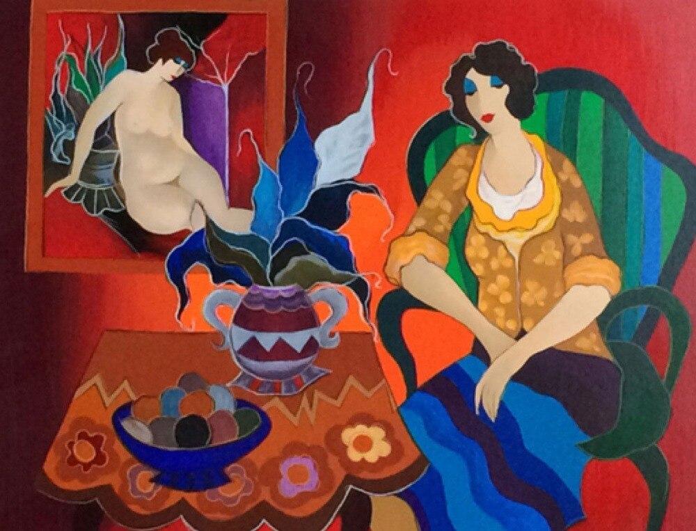 Moderne Abstraite Femme peinture à l'huile sur Toile Belle Femme Figure Art pour décoration d'intérieur Bière Bar Pub Peint À La Main non encadré