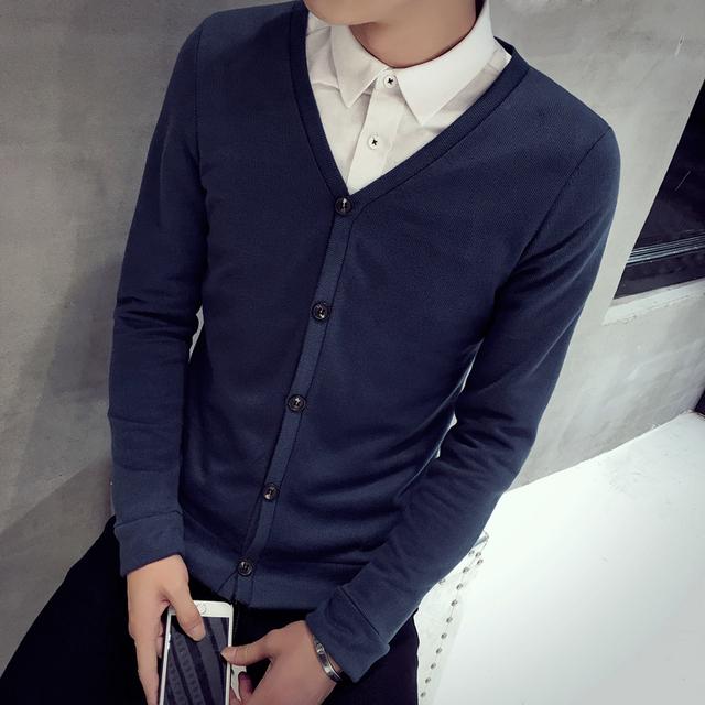 Novo 206 Botão de lã cashmere masculino cardigan outerwear outono Frete grátis homem importado suéter M-5xl Plus