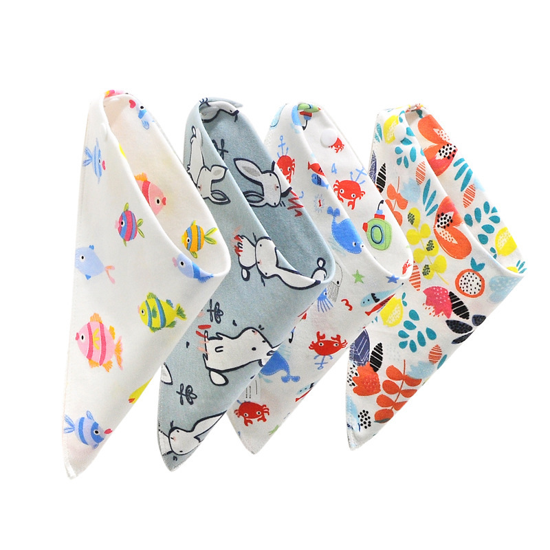 1PC Cartoon riangle Reusable Baby Bibs Washable Burp Cloth Scarf Children Baby Bibs Baberos Babador Bandana Bibs in Bibs Burp Cloths from Mother Kids