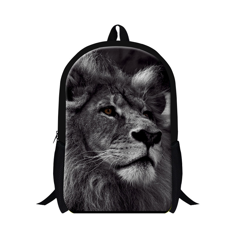 Dispalang 16 Inch Children School Bag Cool Animal Lion Leopard Tiger 3D Print School Bag ...