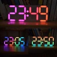 Grande Polegada arco-íris cor digital tubo ds3231 relógio diy kit com cores personalizáveis kit eletrônico au24 dropship