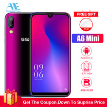 Elephone A6 Mini 5.71 Inch Android 9.0 waterdrop Screen Mobile PhoneMT6761 Quad Core HD+ 4GB+32GB 16MP 3180mah 4G Smartphone
